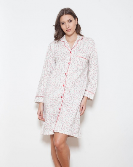 Cotton Fleece Classic Floral Nightshirt