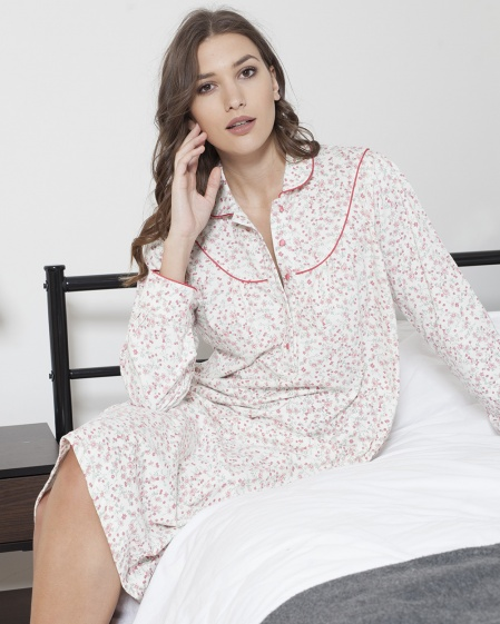 Cotton Fleece Classic Floral Nightdress