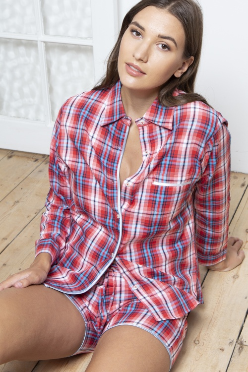 Oxford Twill Cotton Shortie Pyjamas