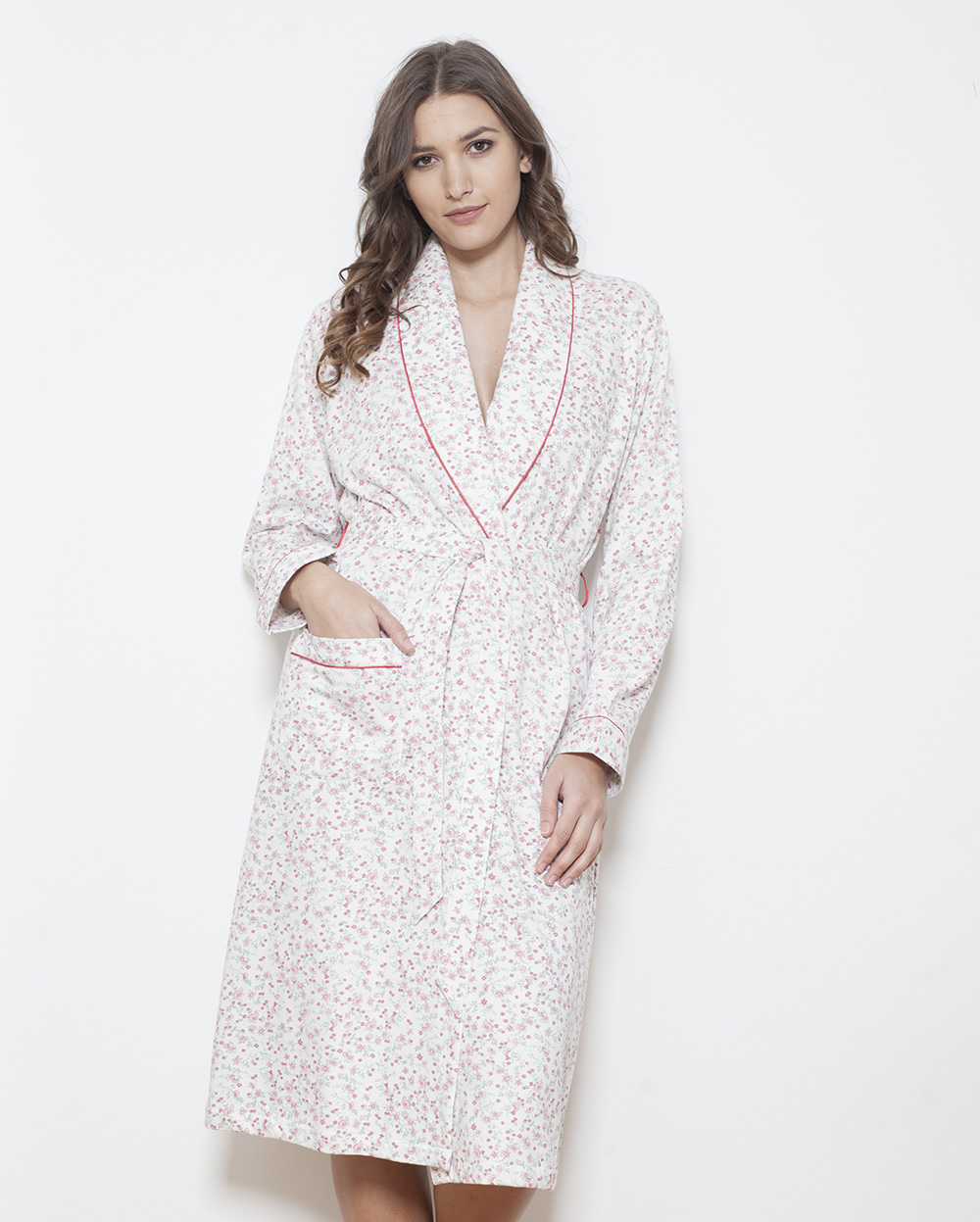 9bb31ae0d5 Cotton Fleece Shawl Collar Robe - Cottonreal