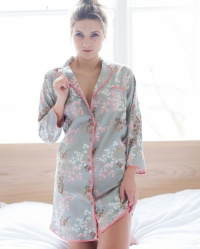 Maple Leaves  Cotton Twill Nightshirt