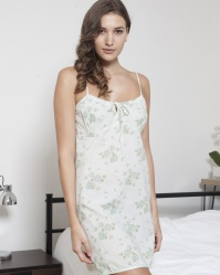 Rosebud Cotton Strappy Chemise
