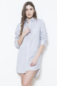 Mini TIle Cotton Nightshirt