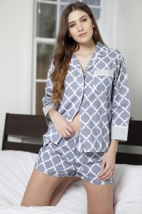 Grand TIle Cotton Shortie PJ Set