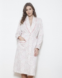 Cotton Fleece Shawl Collar Robe