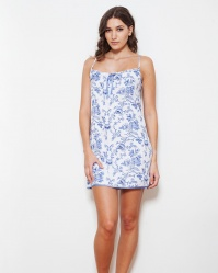 Imperial Floral Shadow Stripe Chemise