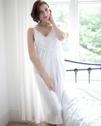 Cai Victorian Cotton Lawn Strappy Nightdress