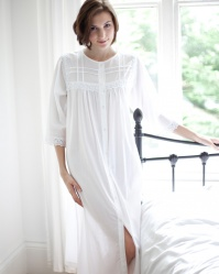 Cassia Victorian Cotton Lawn Housecoat Nightdress