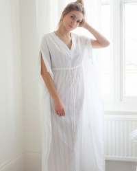 Doreen Full Length Cotton Lawn Jaquard Kaftan