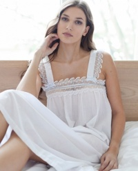 Elba - Cotton Lawn Wide Strappy Nightdress