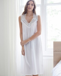 Elle Cotton Lawn Sleeveless Nightdress