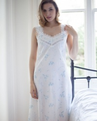 Indira Vintage Floral  Wide Strappy Nightdress