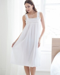 Jolie - Cotton Lawn  Wide Strappy Nightdress