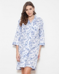 Keira Shadow Stripe Imperial Floral Nightshirt