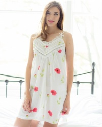 Lamar Cotton Lawn Poppy Floral Strappy Nightdress