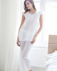 Mara - Cotton Batiste Slip On Pyjamas