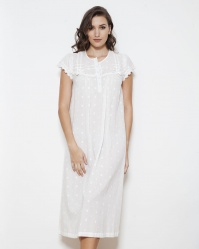 Nola Cotton PolkaDot Cap Sleeve Nightdress