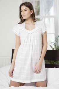 Peony Cotton Lawn Cap Sleeve Nightdress