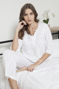 Ralla Cotton Jaquard Stripe Pyjamas