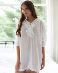 Tomy 100% Cotton Batiste Nightshirt in White