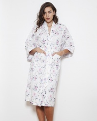Vicky English Rose Cotton Twill Kimono Wrap