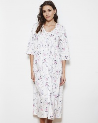 Violet English Rose Cotton Twill Nightdress