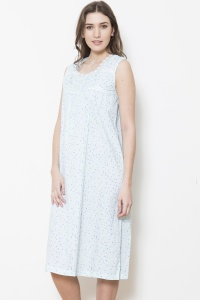 Walter Cotton Lawn Sleeveless Nightdress