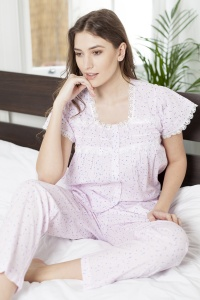 Warner Cotton Lawn Cap Sleeve PJ Set