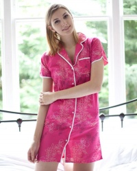 Cotton Voile Floral Cap Sleeve Nightshirt