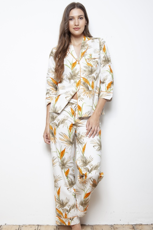 Lillie Desert Flora Cotton Poplin PJ Set