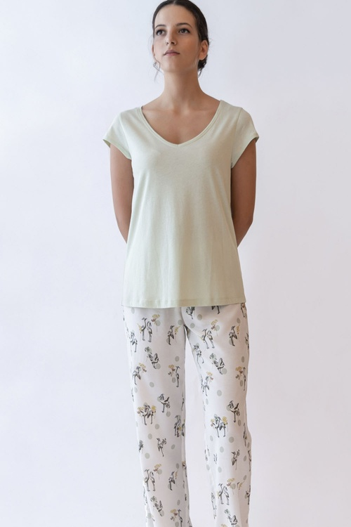 100% VEGAN Crane Pyjama Set