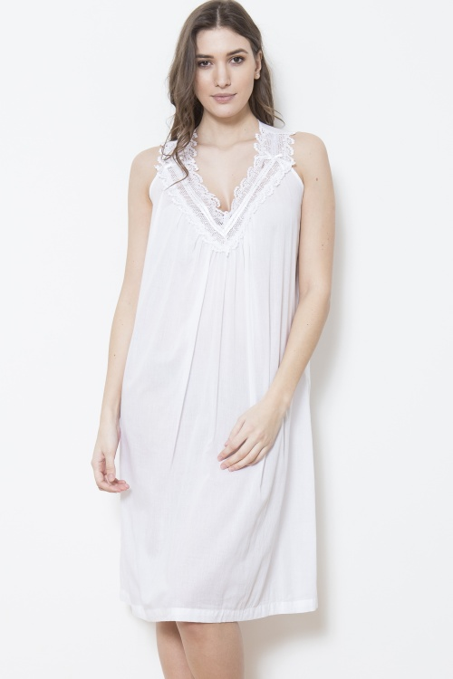 Betty Cotton Voile Sleeveless Nightdress