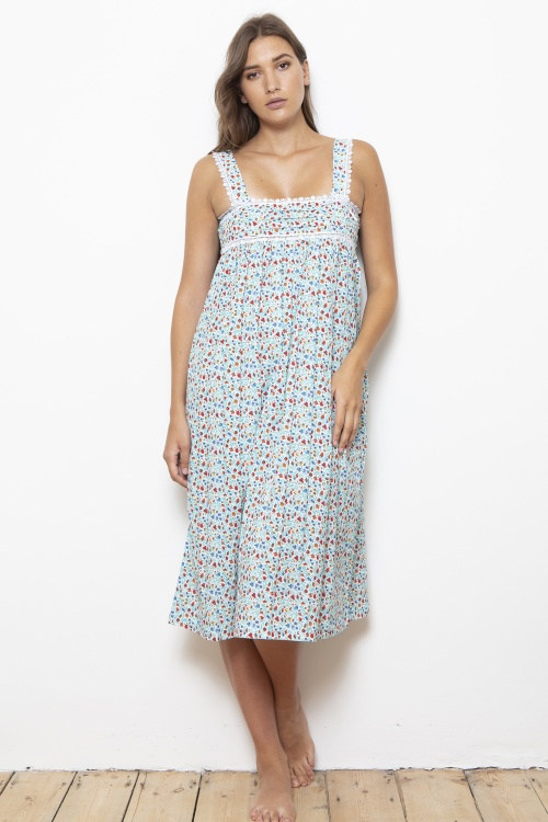 Burdet Cotton Lawn Fleur Wide Strap Nightdress