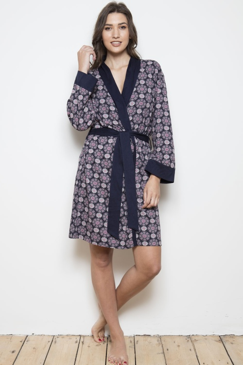Urban Myth 100% Cotton Grace Shawl Robe