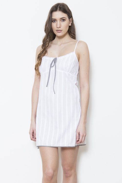 Cotton Tramline Shadow Stripe Chemise