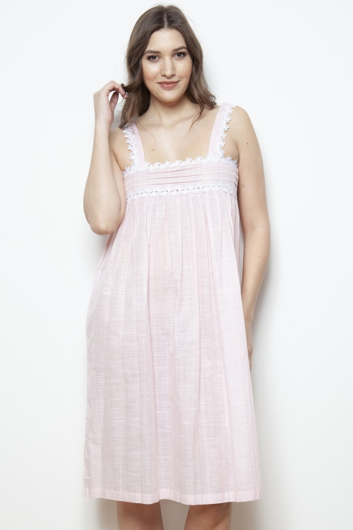 Jeanie Cotton Voile Wide Strap Nightdress