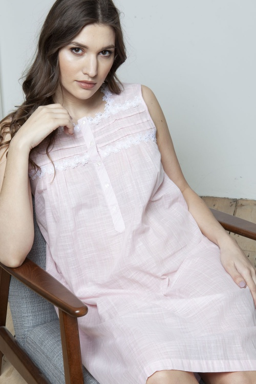 Jen Cotton Voile Sleeveless Nightdress