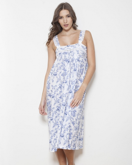 Kenya Shadow Stripe Imperial Floral Nightdress