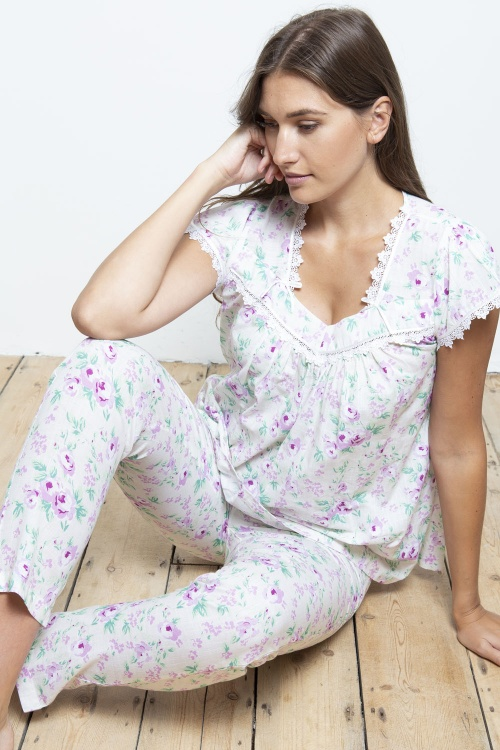 Marla 100% Cotton Linen Blend SlipOn Pyjama Set