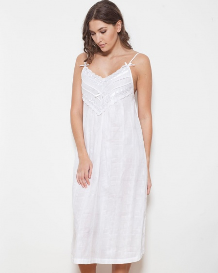 Nadine Cotton Lawn Strappy Nightdress