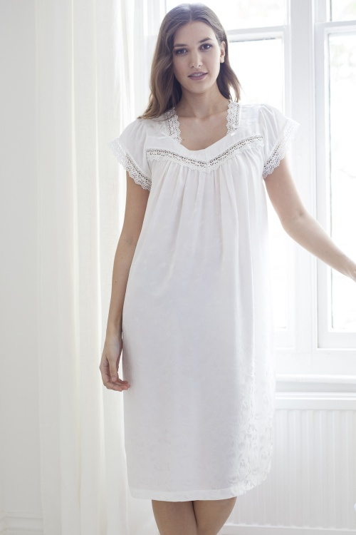Sunday 100% Pure Silk Cap Sleeve Nightdress