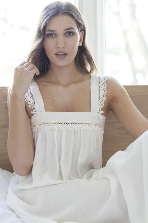 Susan -  Pure Silk Wide Strappy Nightdress
