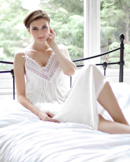 Saba - Pure Silk Strappy Nightdress