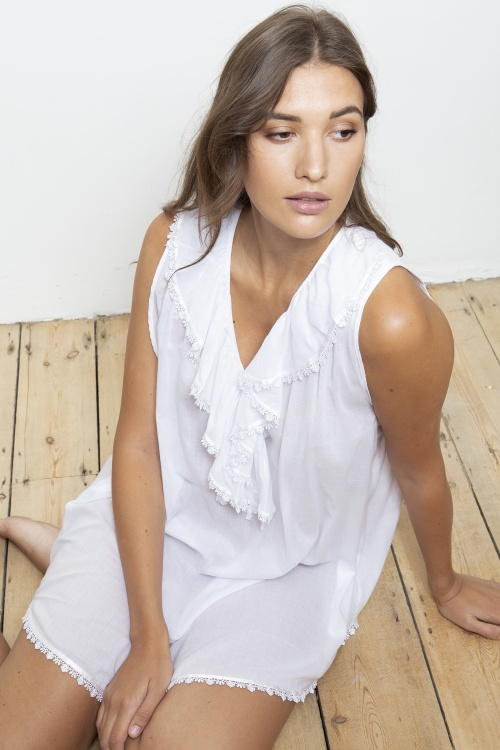 Tao 100% Cotton Voile Lounger Nightshirt