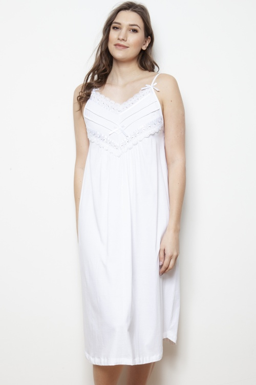 Walta Mercerised Jersey Strappy Nightdress