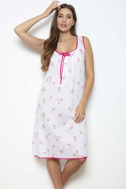 Rosebud 100% Cotton Voile Nightdress