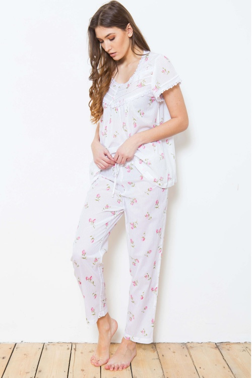 Zaina Cotton Rosebud Pyjamas