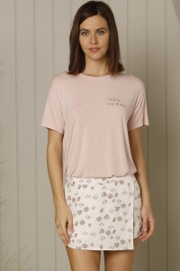 Superfine Modal Mix-Match Shortie PJ Set