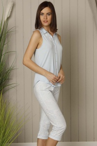 Superfine Modal Cotton Mix-Match Capri Set