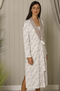 Deluxe Cotton ''I NEED YOU ''  Dalmations Shawl Robe